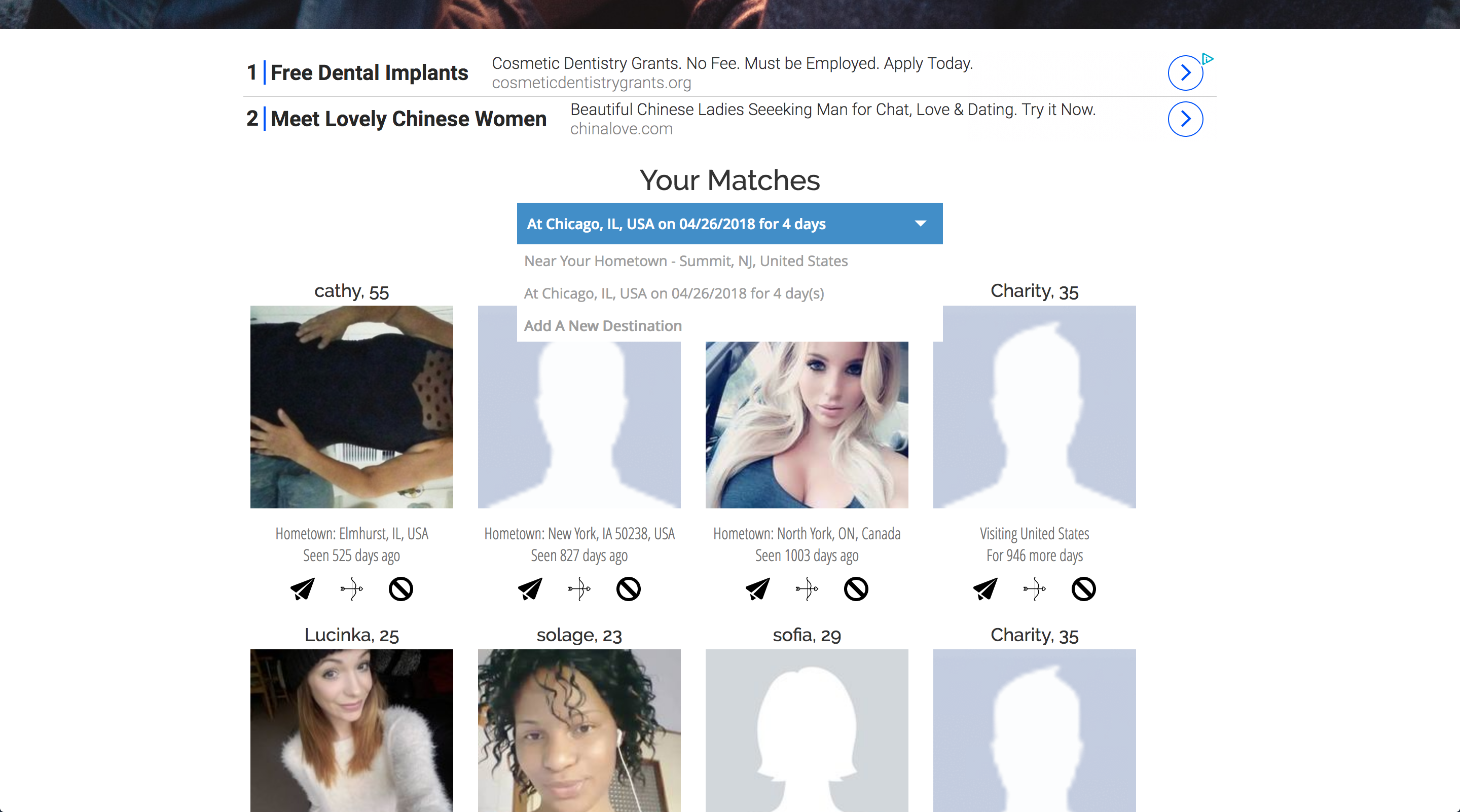Find matches near you